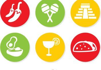 Mexican Icons Vectors Pack 2 - Free vector #147443