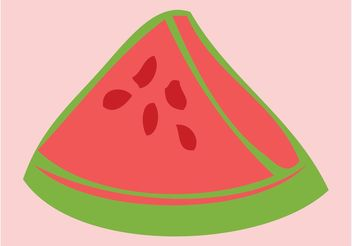 Watermelon Slice - Free vector #147573