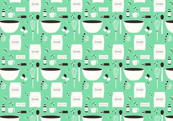 Cookie Recipe Vector Pattern - Free vector #147663