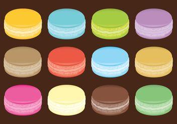 Macarons Vectors - Free vector #147673