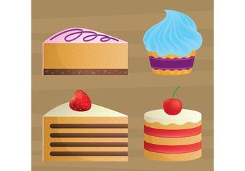 Cake Vectors - vector gratuit #147683