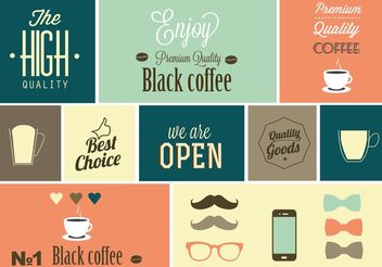 Free Vector Coffee Design Elements - Kostenloses vector #147713