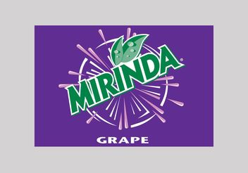 Mirinda Grape - vector gratuit #147743