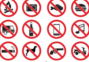 Prohibited Vector Icons - Free vector #147793