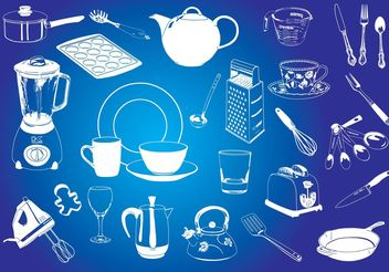 Kitchen Graphics - Free vector #147823
