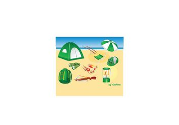 Camping, Hunting and Fishing Vector Pack - Free vector #147833
