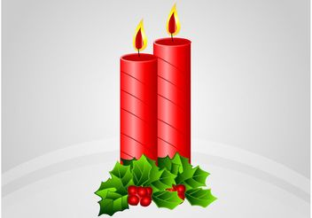 Christmas Candles Vector - vector gratuit #147863