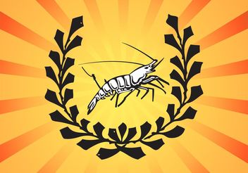 Shrimp Logo - Free vector #148003
