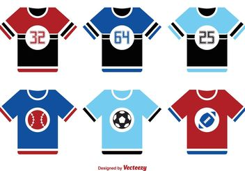 Sports Jersey Vector Set - vector gratuit #148103