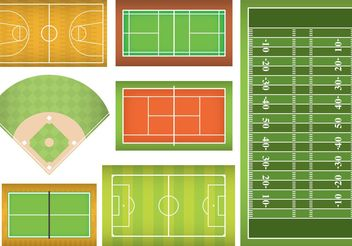 Sports Fields And Courts - Free vector #148113