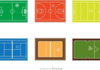 Sport Courts Vectors - Free vector #148143