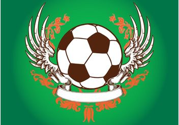 Retro Football Design - vector gratuit #148163