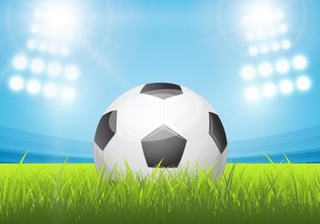 Free Shiny Soccer Ball In Stadium Vector - vector gratuit #148173