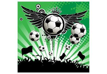 Soccer Poster Template - Free vector #148193