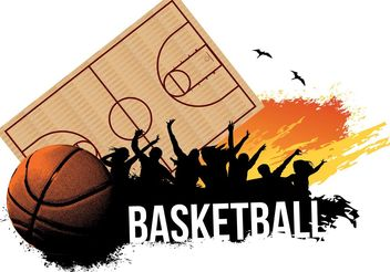 Basketball Party - vector gratuit #148223