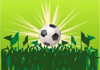 Vector Football Fans - Free vector #148273