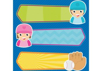 Baseball Vector Banners - Free vector #148403