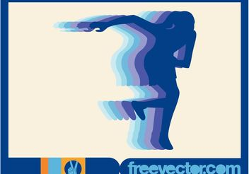 Female Runner Vector - Free vector #148543