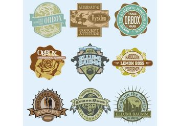 Vintage T-Shirt Labels - vector #148663 gratis