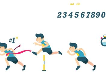 Winning Race Vectors - Free vector #148703
