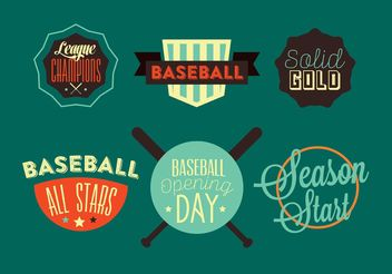 Baseball Opening Day - Free vector #148723