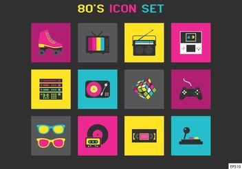 Free 80s Vector Icons - Free vector #148843