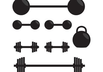 Silhouette of Gym Vector Weights - Free vector #148853