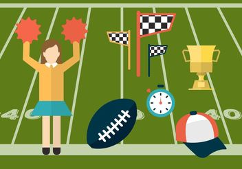 Sport and Cheerleading Vector Icons - Free vector #148863