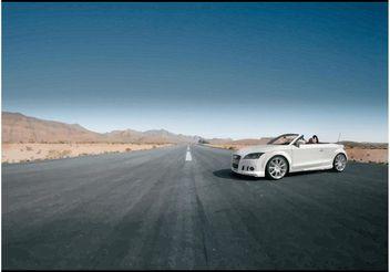 Tuned White Audi TT Cabrio - Free vector #148973