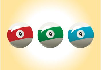 Billiard Balls Vectors - Free vector #149013