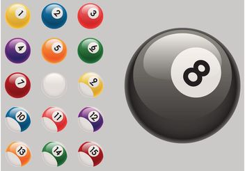 Billiard Balls - vector gratuit #149023