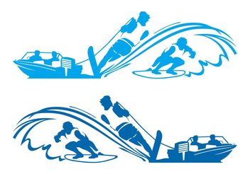 Waterskiing And Surf Layouts - Free vector #149083