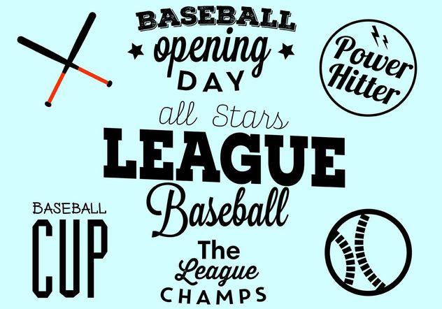Baseball Opening Day Typographic Set - vector #149113 gratis