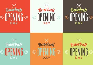Baseball Opening Day Logo Set - Free vector #149153