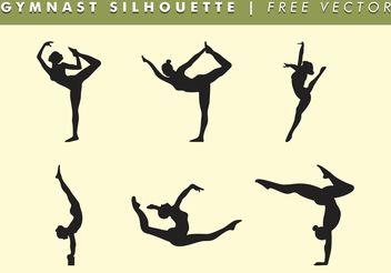 Gymnast Women Silhouette Vector Free - Kostenloses vector #149213