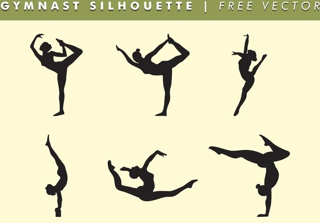 Gymnast Women Silhouette Vector Free - Free vector #149213