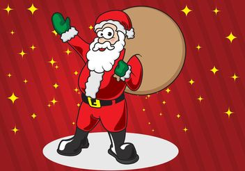 Santa Claus Cartoon - vector gratuit #149253