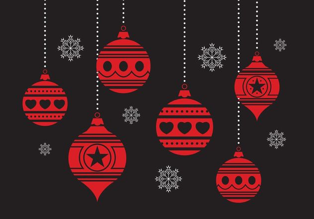 Christmas Ornament Set - Free vector #149333