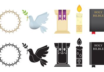 Religious Items - Free vector #149413