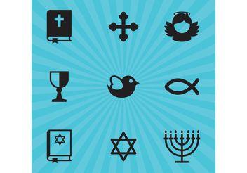 Religion Vector Icons - Kostenloses vector #149443