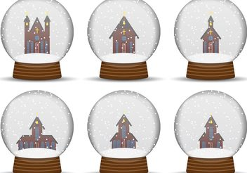 Church Snow Globe Vectors - vector gratuit #149473