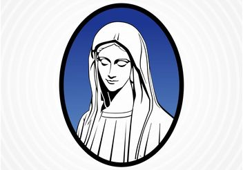Saint Mary Vector - Free vector #149553