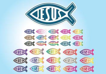 Jesus Icons - vector #149583 gratis