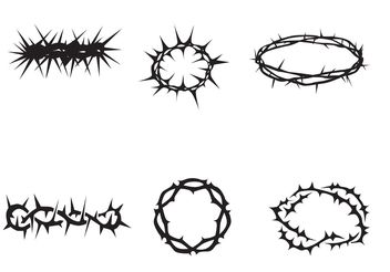 Free Vector Crown of Thorns - Free vector #149623