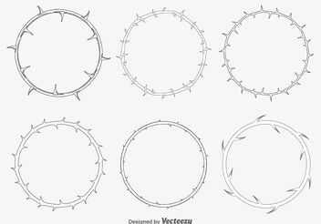 Thorn Frames - vector #149643 gratis