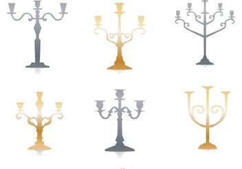 Silver And Gold Candlesticks Vector - Free vector #149953
