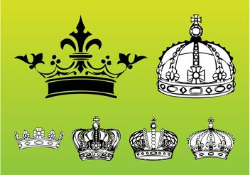 Royal Crowns - vector gratuit #149973