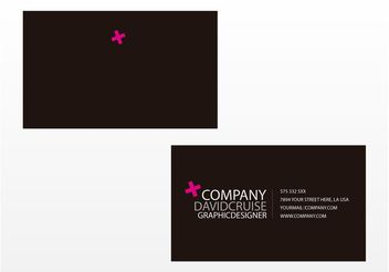 Business Card Vector Template - Free vector #150023