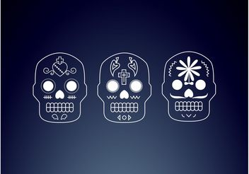 Mexican Skulls - Free vector #150063