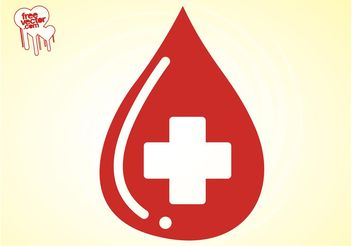Blood Drop Vector - Free vector #150093